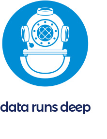 Data Runs Deep logo